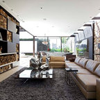 Wall Units Contemporary Living Room Chicago By