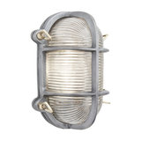 Bulkhead Outdoor & Bathroom Oval Light - 6 Inch - Gunmetal, Side Wiring