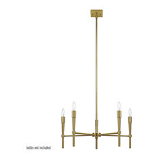 Elena 5-Light Brushed Brass Chandelier