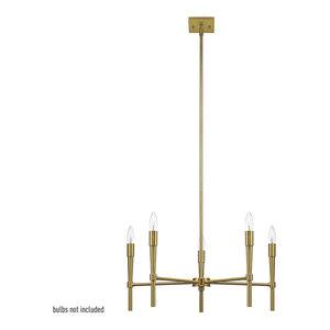 Elena 5-Light Brushed Brass Chandelier