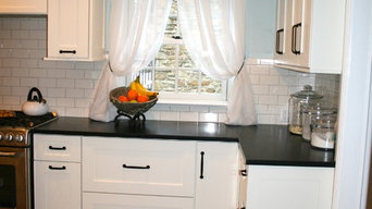 White Traditional Kitchen and Bath