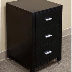 "Bellaterra Home - Bellaterra 17""x28"" Chest Drawer Unit, Black, Solid Birch Wood - Bathroom Vanities and Sink Consoles"