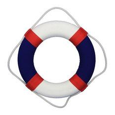 "Lifering Life Preserver Decoration Nautical Bathroom Decor, White, 20"", American"