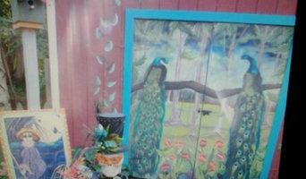 Custom designed wall murals in various homes