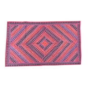 Mogulinterior - Indian Decorative Tapestry Red Pink Patchwork Wall Hanging Home Decor - Tapestries