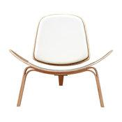 Shell Chair, Milano White, Natural Finish