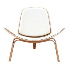 NyeKoncept Shell Chair Natural Milano White