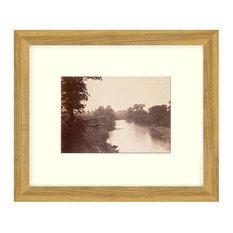 """Grasshopper Creek"" Sepia Tone Framed Photo, 16""X23"""