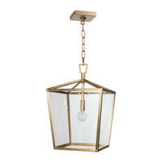 Camden Lantern, Small, Natural Brass