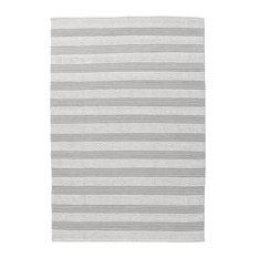 Jodhpur Grey Stripes Area Rug, 80x150 cm