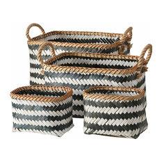 Black and White Organizer Baskets