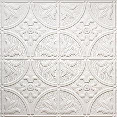 """24.5""""x48.5"""" Mercer Tin-Style Ceiling Tile, White"""