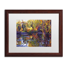 "David Lloyd Glover 'Tapestry Reflection' Art, Wood Frame, 16""x20"", White Matte"