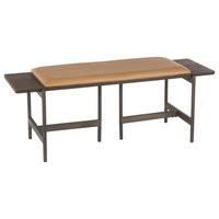 Chloe Bench, Antique Metal, Espresso Bamboo, Camel PU