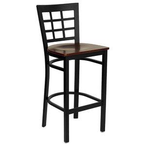 Astounding Linon Keira Pad Back Folding Bar Stool Espresso 30 Theyellowbook Wood Chair Design Ideas Theyellowbookinfo