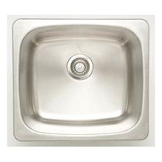 Undermount Laundry Sink for Deck Mount Faucet, Chrome