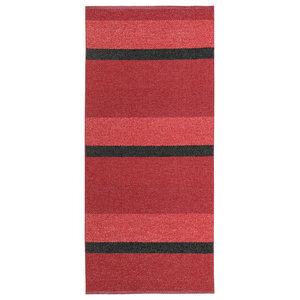 Block Woven Vinyl Floor Cloth, Red, 70x200 cm