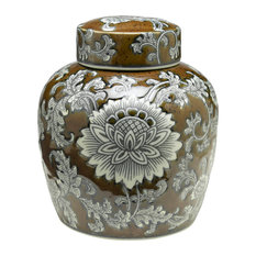 "9"" Brown & Grey Ginger Jar"