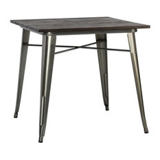 dhp dhp fusion square dining table antique gun metal dining tables - Square Dining Table