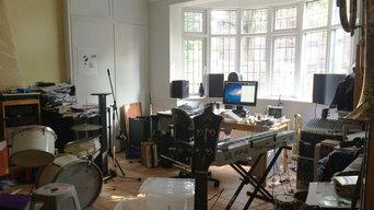 Music studio before