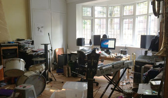 Music studio before