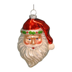 Premier Glass Santa Christmas Bauble Decoration, 12 cm