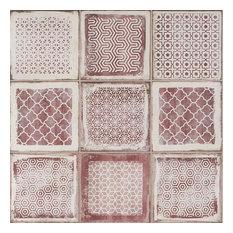 Santa Fe Deco 7.87 in. x 7.87 in. Matte Porcelain Tile (10.32 sqft), Rose