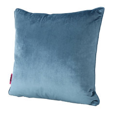 GDF Studio Isadora New Velvet Throw Pillow, Aqua