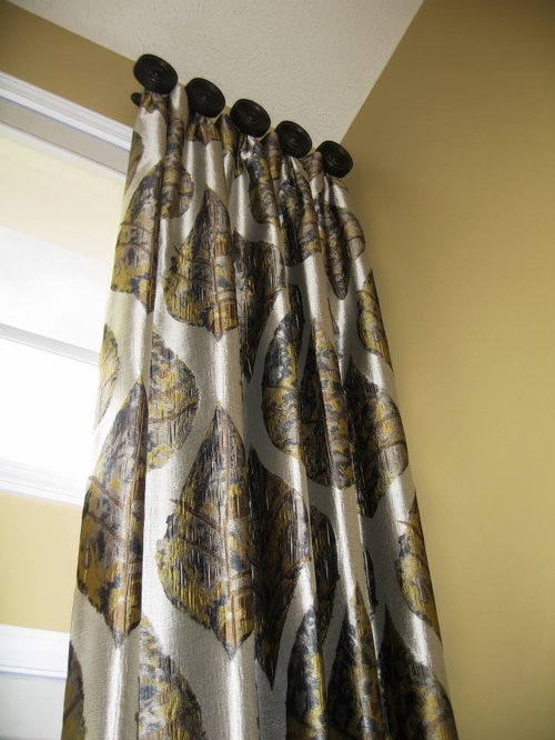 knob mounted drapery - Curtains