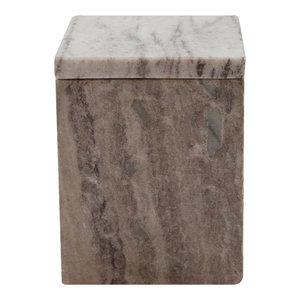 Oblong Marble Box, Short, Latte