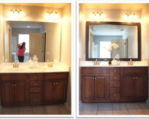 how do you frame a bathroom mirror mirrormate frames before amp afters 26027
