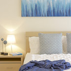 Plumpton Guest Bedroom With Duck Egg Blue Painted Feature