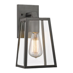 "Leodegrance 1 Light Outdoor Wall Sconce 11"" High, Textured Black"