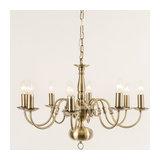 Antwerp 8 Light Antique Brass Flemish Style Chandelier