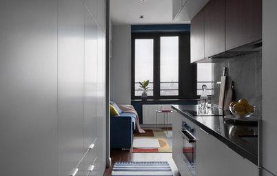 Houzz тур: Квартира 29 кв.м с кухней в коридоре