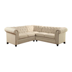 1PerfectChoice - Roy Sectional Buttoned Sofa - Sectional Sofas