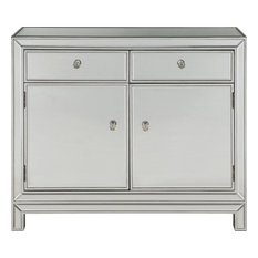 Nightstand Modern Contemporary Antique Silver Paint Solid Wood 2