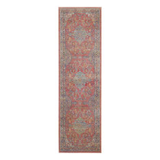 Nourison - Nourison Global Vintage Multicolor Persian Area Rug, 2'x6' - Hall and Stair Runners