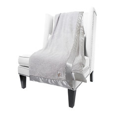 Chenille Solid Throw, Silver