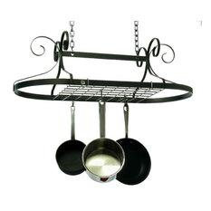 Decor Scrolled Oval Pot Rack