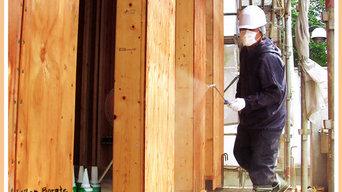木材劣化対策工事「ボロンdeガード工法」