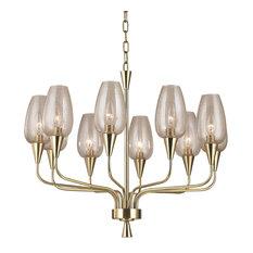 Longmont 10 Light Chandelier in Aged Brass