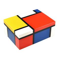 Lacquer Medium Box, Mondrian