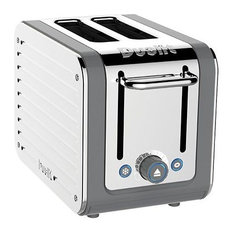 Dualit Architect 2 Slots Body With Panel Toaster, Grey/Stainless Steel