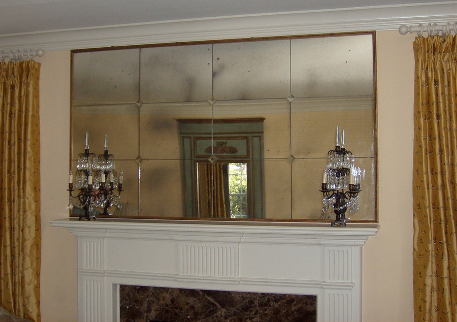 Antique Over the Fireplace Mirrors