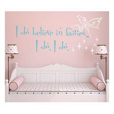 """Believe in Fairies, 28"""", Brilliant Blue"""