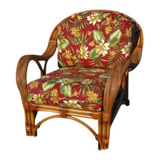 Caneel Bay Arm Chair in Cinnamon, Solar Kiwi Fabric