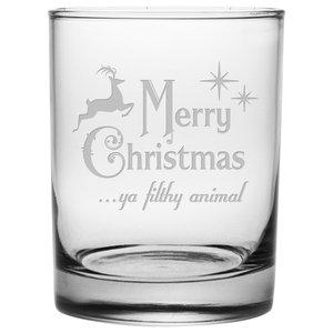 Bix Script Etched Monogram Spey Dram Whisky Tasting Glass Letter A
