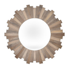 Innova - Stockholm Natural Wood Mirror, 90 cm - Wall Mirrors