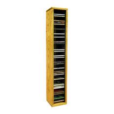 Cd Storage Cabinet, Honey